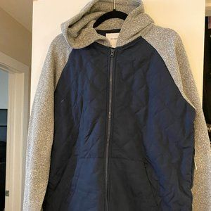 Men's Old Navy Grey and Navy Bomber Jacket
